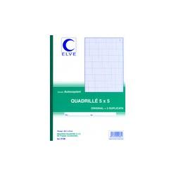 ELVE Manifold quadrillé (5/5), 140 x 105 mm, dupli 50 feuilles, un duplicata par feuillenew