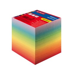 herlitz Bloc-notes cube, 90 x 90 mm, coloré, 80 g/m2new