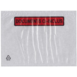 dm-films Pochettes porte documents, format 110 x 220 mm lot de 250