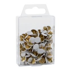 DURABLE punaises, diamètre de tête: 10 mm, blanc dans une boîte transparente avec oeillet de suspension contenu: 120 piècesnew