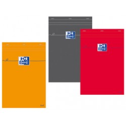 Oxford bloc-notes, A5, quadrillé, 80 feuilles, orange