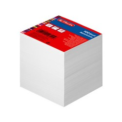 herlitz Bloc-notes cube, 90 x 90 mm, blanc, 80 g/m2