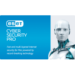 ESET Cyber Security Pro - Antivirus & Securité Internet pour Mac  Licence 1 poste 1 an