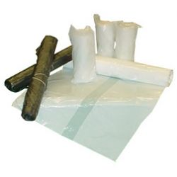 dm-folien sac poubelle, transparent, 60 litres, 600 x720 mm en HDPE, perforé en rouleau, épaisseur: 5,5 mu contenu: 50 pièces