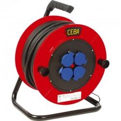Enrouleur TRB4 25 ml HO7RNF 3G2.5 4 socles de prises 220V /16A norme pro